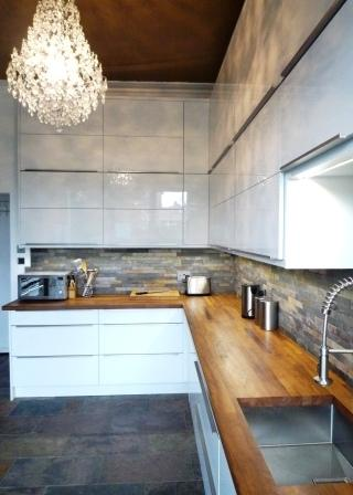 Handleless high gloss kitchen guiseley the skipton for White high gloss kitchen wall units