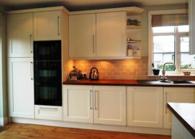 Ivory vinyl shaker kitchen skipton the skipton kitchen for Kitchen and company