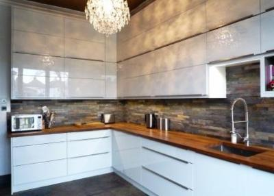 Handleless High Gloss Kitchen   Guiseley   The Skipton Kitchen Company |  Design U0026 Installation Of Quality Rigid Kitchens At Reasonable Prices Across  ...